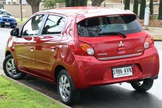2013 Mitsubishi Mirage LA MY14 ES Red 1 Speed Constant Variable Hatchback.