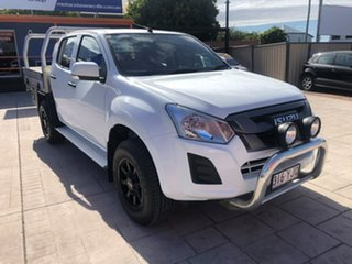 2018 Isuzu D-MAX MY18 SX Crew Cab 4x2 High Ride White 6 Speed Sports Automatic Cab Chassis.