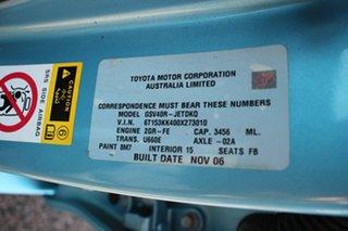 2006 Toyota Aurion GSV40R AT-X Ice Blue 6 Speed Automatic Sedan