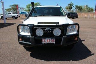 2013 Toyota Landcruiser VDJ200R MY13 GX Glacier White 6 Speed Automatic Wagon.