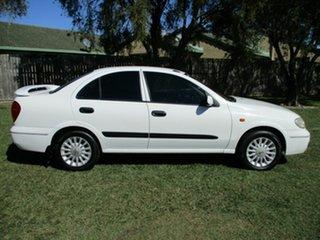 2003 Nissan Pulsar N16 MY2003 ST-L White 4 Speed Automatic Sedan.