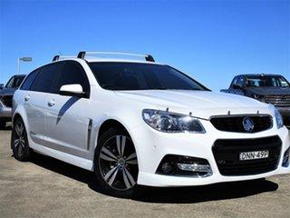 2015 Holden Commodore VF MY15 SV6 Sportwagon Storm White 6 Speed Sports Automatic Wagon.