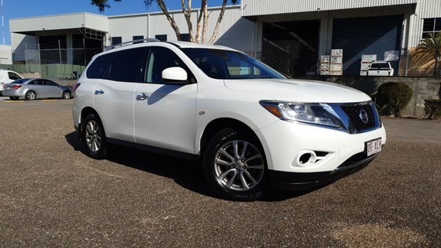 Used Nissan Pathfinder R52 ST (4x2) Underwood, 2014 Nissan Pathfinder R52 ST (4x2) White Continuous Variable Wagon