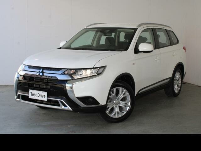 Used Mitsubishi Outlander ZL MY19 LS 7 Seat (2WD) Belconnen, 2019 Mitsubishi Outlander ZL MY19 LS 7 Seat (2WD) White Continuous Variable Wagon