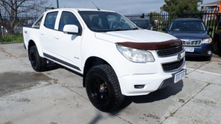 2013 Holden Colorado RG MY13 LX Crew Cab White 6 Speed Sports Automatic Cab Chassis.