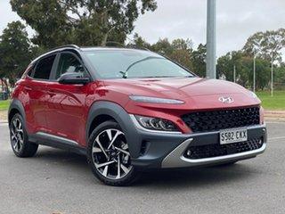 2021 Hyundai Kona Os.v4 MY21 Highlander 2WD Pulse Red & Black Roof 8 Speed Constant Variable Wagon.