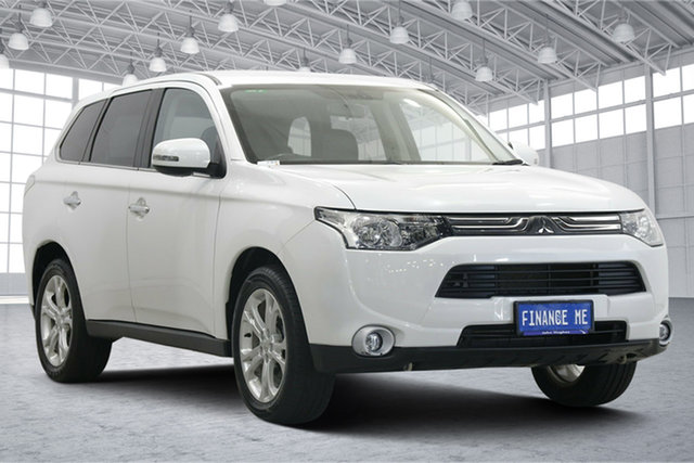 Used Mitsubishi Outlander ZJ MY13 Aspire 4WD Victoria Park, 2013 Mitsubishi Outlander ZJ MY13 Aspire 4WD White 6 Speed Constant Variable Wagon