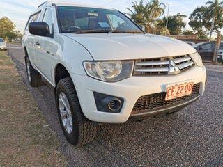2011 Mitsubishi Triton MN MY12 GLX 4x2 White 5 Speed Manual Utility.