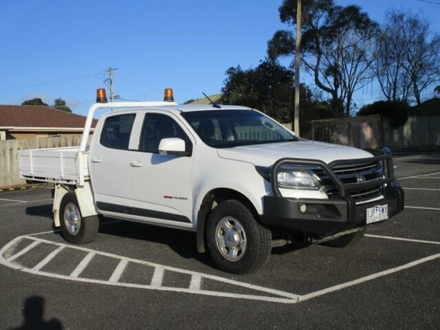 Used Holden Colorado LS (4x4) Timboon, 2017 Holden Colorado RG Turbo LS (4x4) White Automatic CREWCAB CHASSIS