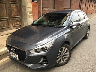 2017 Hyundai i30 PD MY18 Active Iron Gray 6 Speed Manual Hatchback.