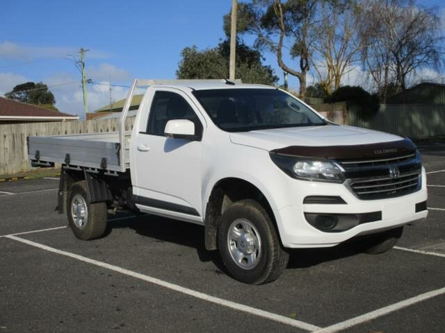 Used Holden Colorado LS (4x4) Timboon, 2017 Holden Colorado RG Turbo LS (4x4) White Automatic Cab Chassis