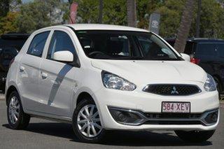 2016 Mitsubishi Mirage LA MY16 ES White 1 Speed Constant Variable Hatchback.