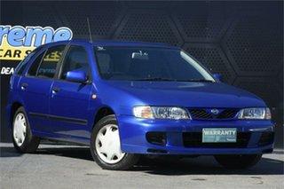 1998 Nissan Pulsar N15 S2 LX Blue 4 Speed Automatic Hatchback.