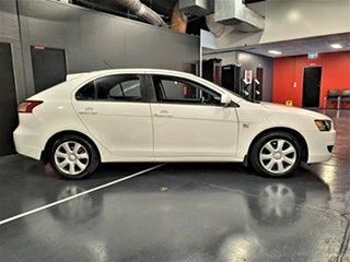 2012 Mitsubishi Lancer CJ MY12 ES Sportback White 6 Speed Constant Variable Hatchback.