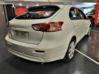 2012 Mitsubishi Lancer CJ MY12 ES Sportback White 6 Speed Constant Variable Hatchback