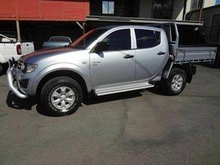 2011 Mitsubishi Triton MN MY11 GL-R (4x4) Silver 5 Speed Manual Double Cab Utility
