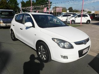 2011 Hyundai i30 White 5 Speed Automatic Hatchback.