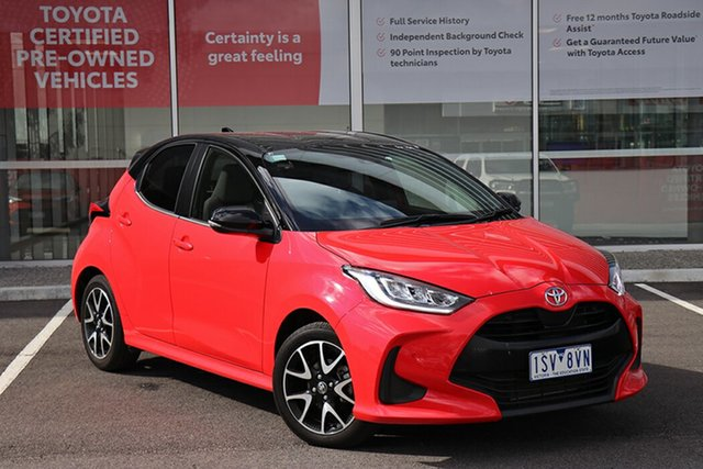 Pre-Owned Toyota Yaris Mxpa10R ZR South Morang, 2021 Toyota Yaris Mxpa10R ZR Coral Rose W Black Roof 10 Speed Constant Variable Hatchback