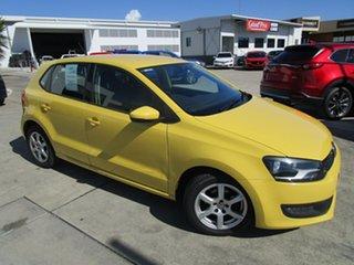 2011 Volkswagen Polo 6R MY11 66TDI DSG Comfortline Yellow 7 Speed Sports Automatic Dual Clutch.