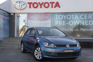 2015 Volkswagen Golf VII MY15 90TSI Comfortline Blue 6 Speed Manual Hatchback.