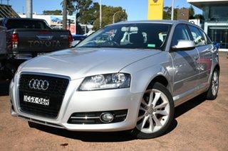 2011 Audi A3 8P MY12 Sportback 1.8 TFSI Ambition Silver 7 Speed Auto Direct Shift Hatchback.
