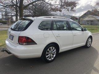 2010 Volkswagen Golf VI MY10 118TSI DSG Comfortline White 7 Speed Sports Automatic Dual Clutch Wagon.