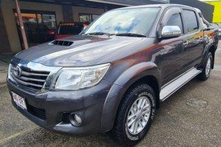 2015 Toyota Hilux KUN26R MY14 SR5 Double Cab Grey 5 Speed Automatic Utility