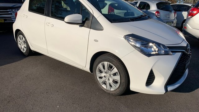 Used Toyota Yaris NCP130R Ascent Maitland, 2016 Toyota Yaris NCP130R Ascent White 4 Speed Automatic Hatchback