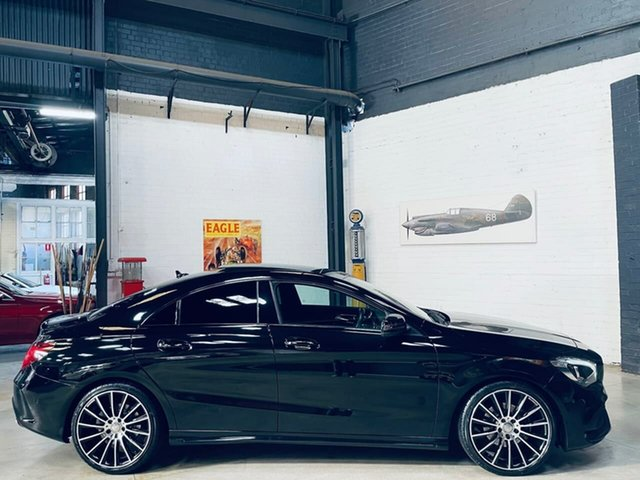 Used Mercedes-Benz CLA-Class C117 809MY CLA200 DCT Port Melbourne, 2018 Mercedes-Benz CLA-Class C117 809MY CLA200 DCT Black 7 Speed Sports Automatic Dual Clutch Coupe