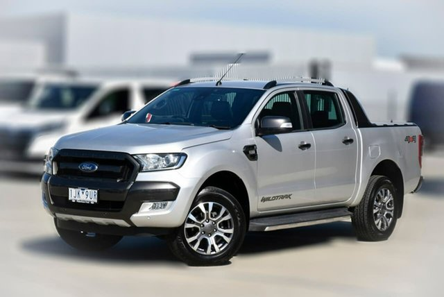 Used Ford Ranger PX MkII Wildtrak Double Cab Pakenham, 2017 Ford Ranger PX MkII Wildtrak Double Cab Silver 6 Speed Sports Automatic Utility