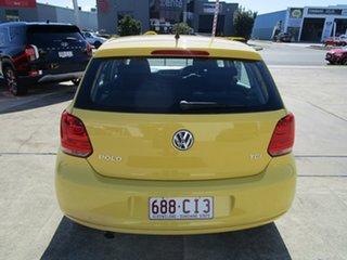 2011 Volkswagen Polo 6R MY11 66TDI DSG Comfortline Yellow 7 Speed Sports Automatic Dual Clutch