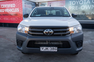 2019 Toyota Hilux TGN121R Workmate Double Cab 4x2 Glacier White 6 Speed Sports Automatic Utility