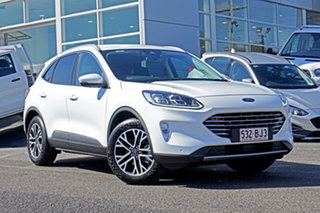 2020 Ford Escape ZH 2021.25MY White 8 Speed Sports Automatic SUV.