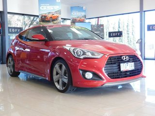 2015 Hyundai Veloster FS4 Series II SR Coupe D-CT Turbo + Red 7 Speed Sports Automatic Dual Clutch.