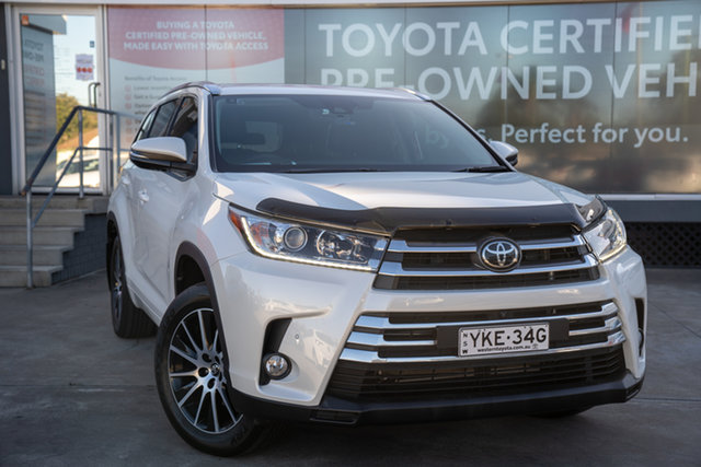 Pre-Owned Toyota Kluger GSU55R Grande AWD Guildford, 2019 Toyota Kluger GSU55R Grande AWD Crystal Pearl 8 Speed Sports Automatic Wagon