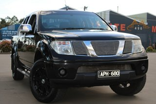 2007 Nissan Navara D40 ST-X (4x4) Black 5 Speed Automatic Dual Cab Pick-up.