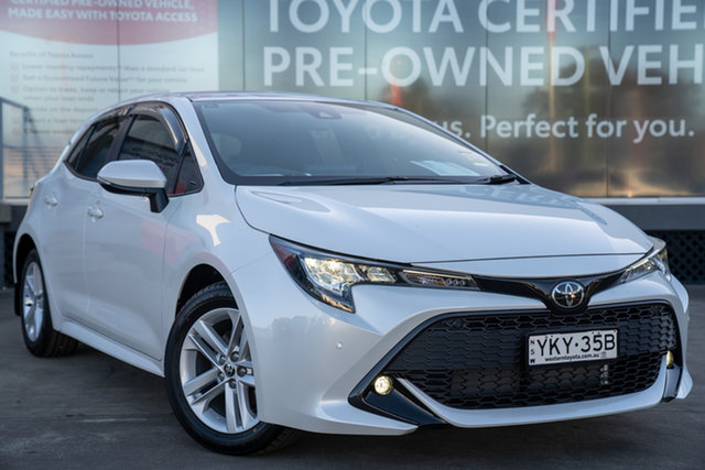 Pre-Owned Toyota Corolla Mzea12R SX Guildford, 2021 Toyota Corolla Mzea12R SX Frosted White 10 Speed Constant Variable Hatchback
