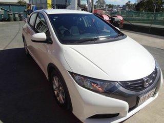 2013 Honda Civic FK VTi-S White 6 Speed Manual Hatchback.