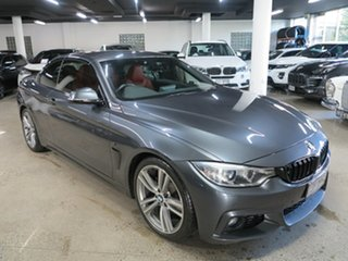2014 BMW 4 Series F33 420i M Sport Grey 8 Speed Sports Automatic Convertible.