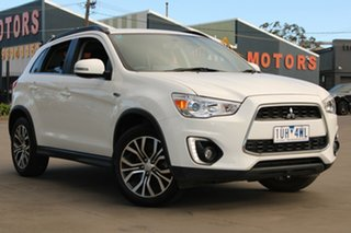 2016 Mitsubishi ASX XC MY17 LS (2WD) White Continuous Variable Wagon.