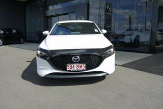 2021 Mazda 3 BP2HLA G25 SKYACTIV-Drive Evolve White 6 Speed Sports Automatic Hatchback.
