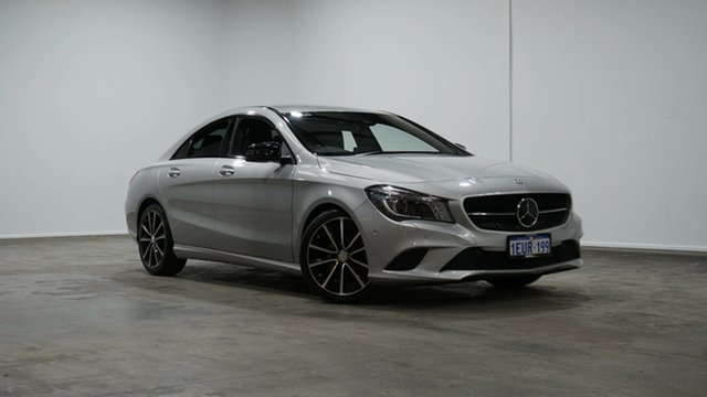 Used Mercedes-Benz CLA-Class C117 805+055MY CLA200 DCT Welshpool, 2015 Mercedes-Benz CLA-Class C117 805+055MY CLA200 DCT Silver 7 Speed Sports Automatic Dual Clutch