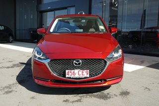 2021 Mazda 2 DL2SAA G15 SKYACTIV-Drive Pure Red 6 Speed Sports Automatic Sedan.
