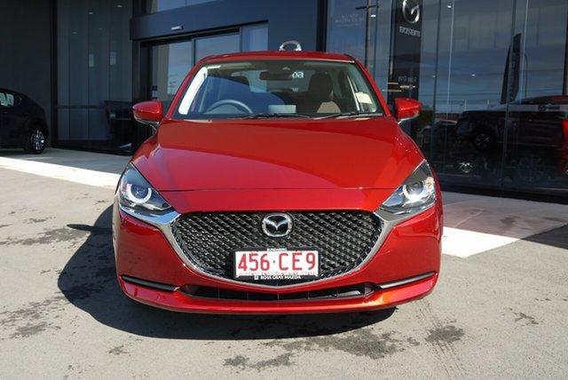 Demo Mazda 2 DL2SAA G15 SKYACTIV-Drive Pure Bundaberg, 2021 Mazda 2 DL2SAA G15 SKYACTIV-Drive Pure Red 6 Speed Sports Automatic Sedan