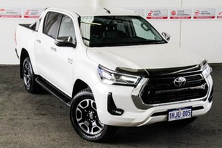 2021 Toyota Hilux GUN126R SR5 Double Cab Crystal Pearl 6 Speed Sports Automatic Utility.