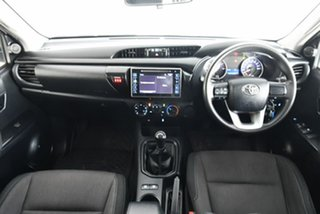 2017 Toyota Hilux GUN136R SR Double Cab 4x2 Hi-Rider White 6 Speed Manual Utility.