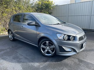 2014 Holden Barina TM MY14 RS Grey 6 Speed Sports Automatic Hatchback.