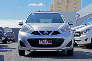 2015 Nissan Micra K13 Series 4 MY15 ST Silver 4 Speed Automatic Hatchback.