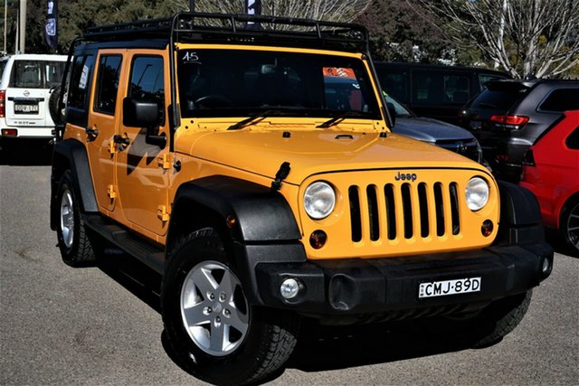 Used Jeep Wrangler JK MY2012 Unlimited Sport Phillip, 2012 Jeep Wrangler JK MY2012 Unlimited Sport Yellow 6 Speed Manual Softtop