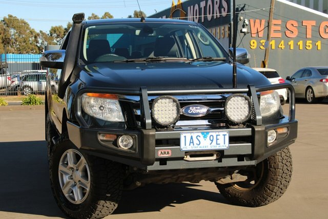 Used Ford Ranger PX XLT 3.2 (4x4) West Footscray, 2013 Ford Ranger PX XLT 3.2 (4x4) Grey 6 Speed Automatic Dual Cab Utility